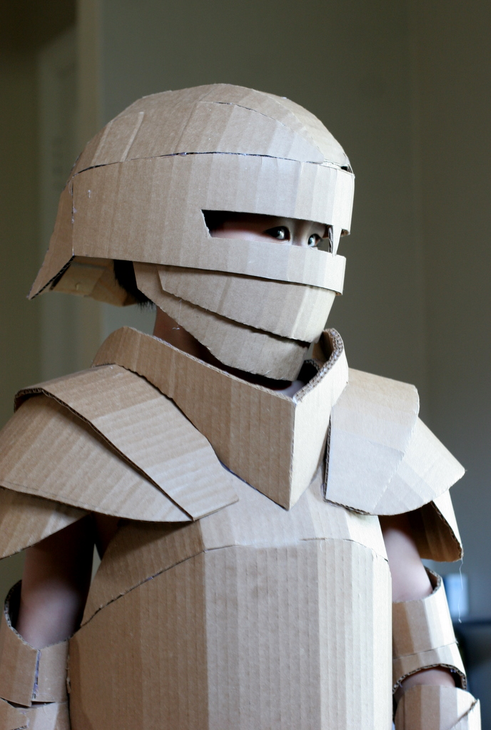 Knight costume, unpainted