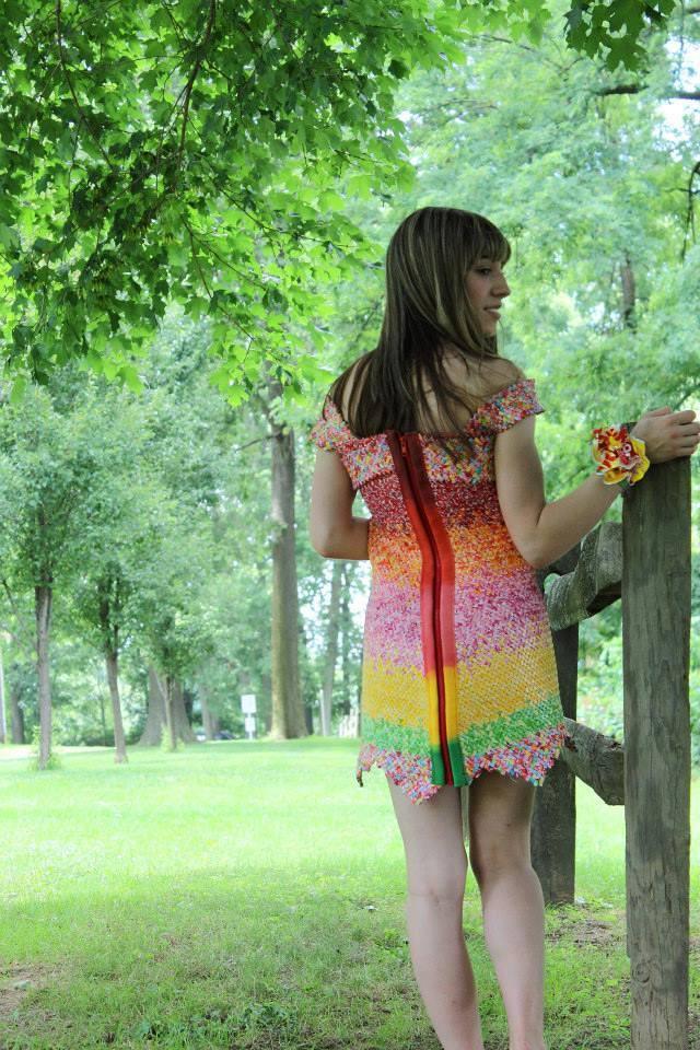 Back of Starburst Dress