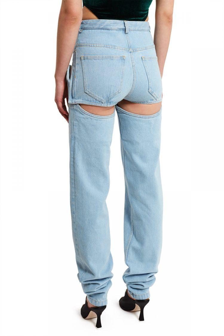 Y Project Detachable Jeans Shorts Back
