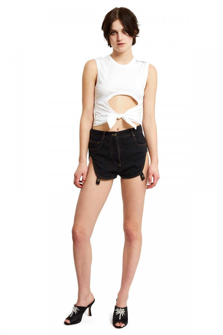 YProject Side Detachable Jeans Shorts