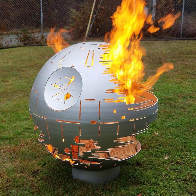 steel star wars death star fire pit buzzfeed