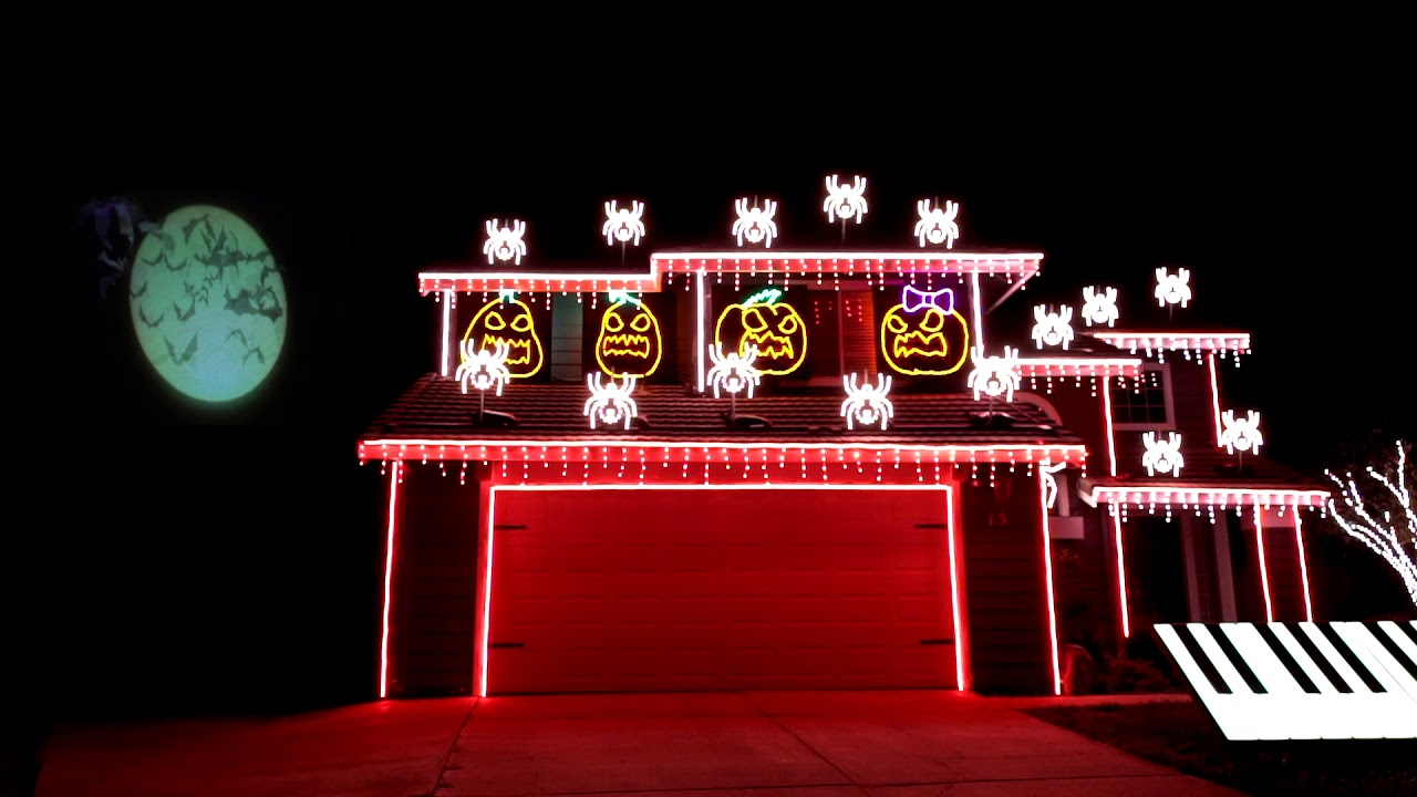 A Spooktacular 'Nightmare Before Christmas' Light Show Synced To  - Nightmare Before Christmas Light