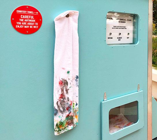Artwork Wet Hanging Towel