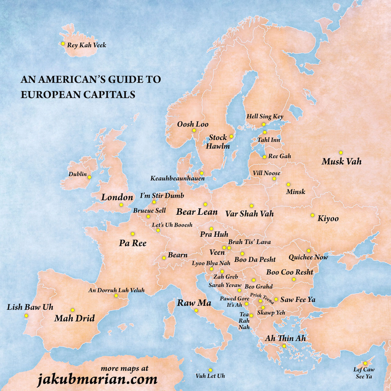 A Clever Map That Phonetically Spells Out the Names of European