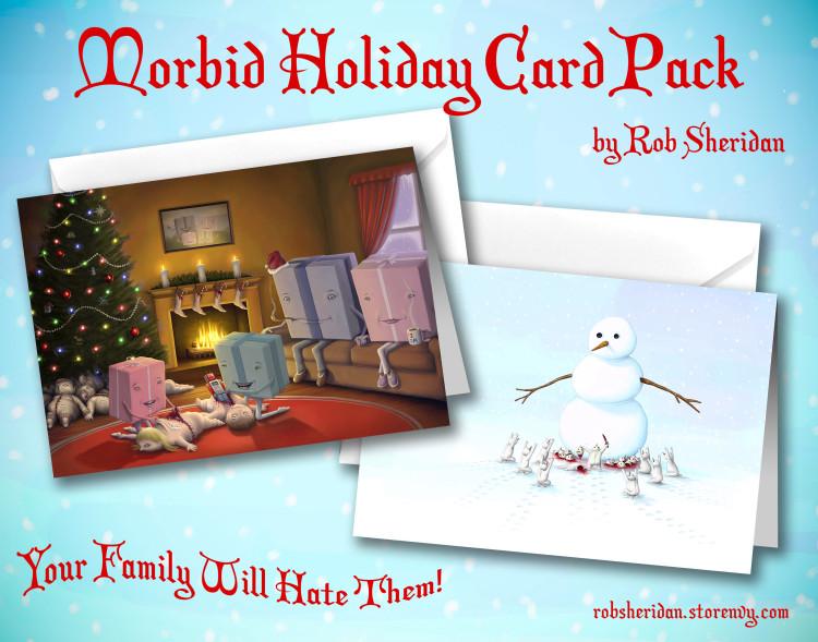 Morbid Holiday Card Pack