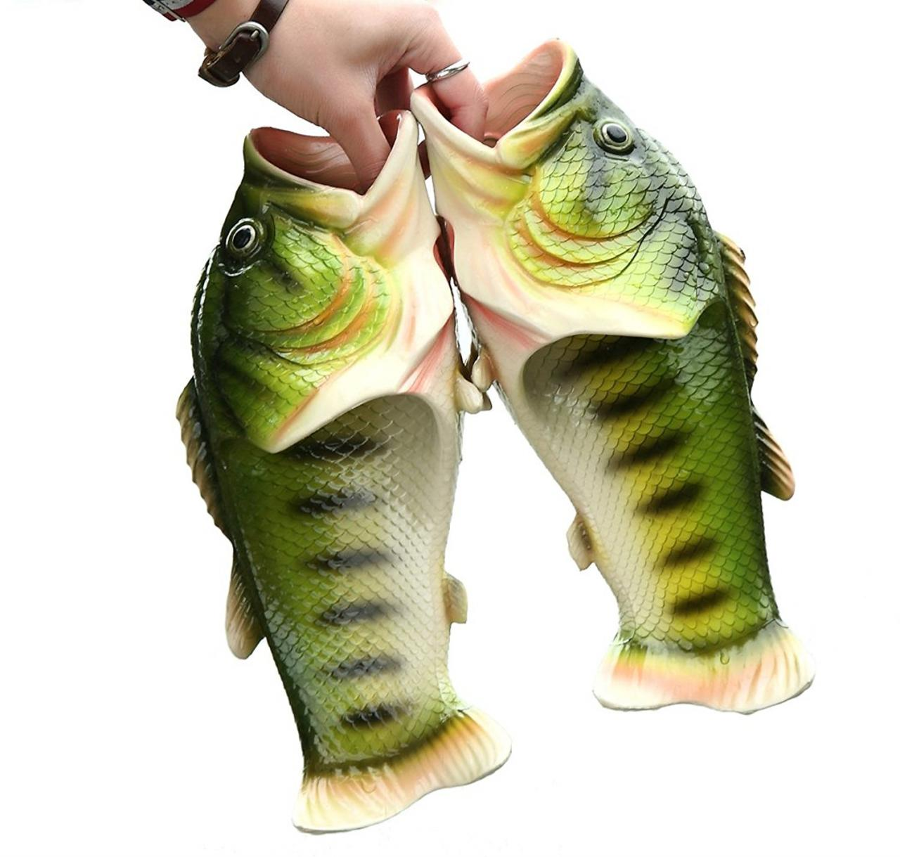 Largemouth bass fish slippers buzzfeed for Good bass fishing spots near me