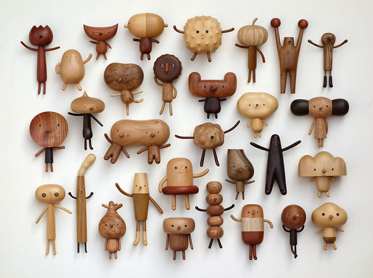 Taiwanese Artist Creates Adorably Quirky Wooden Toy Characters With Help From His Kids