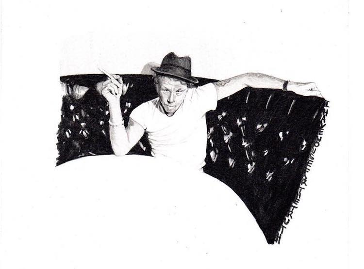 Tom Waits Tuesdays, Denver Artist Draws Uniquely Detailed Portraits