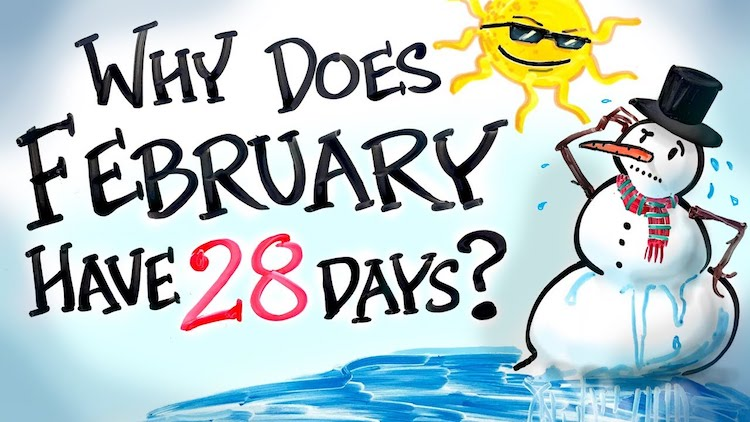 Reason why february only has 28 days